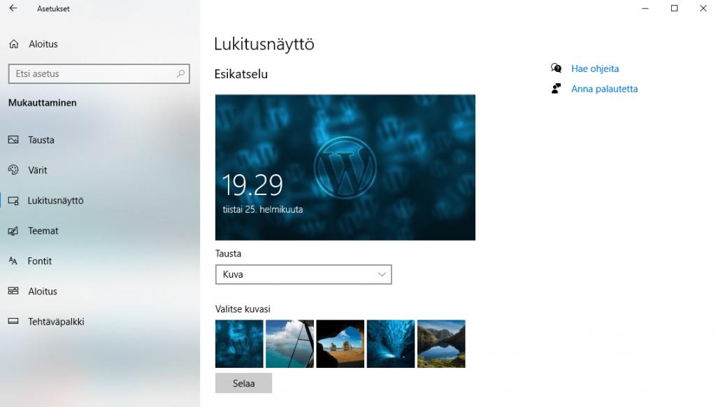Windows 10 Salasanan Vaihto