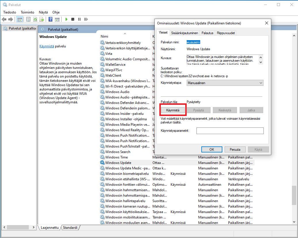 Windows 10 päivitys käyttöön