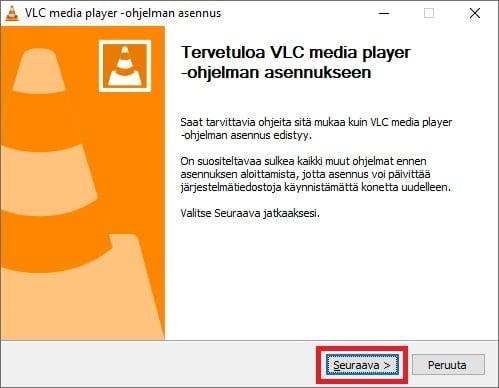 VLC mediaplayerin aennus.